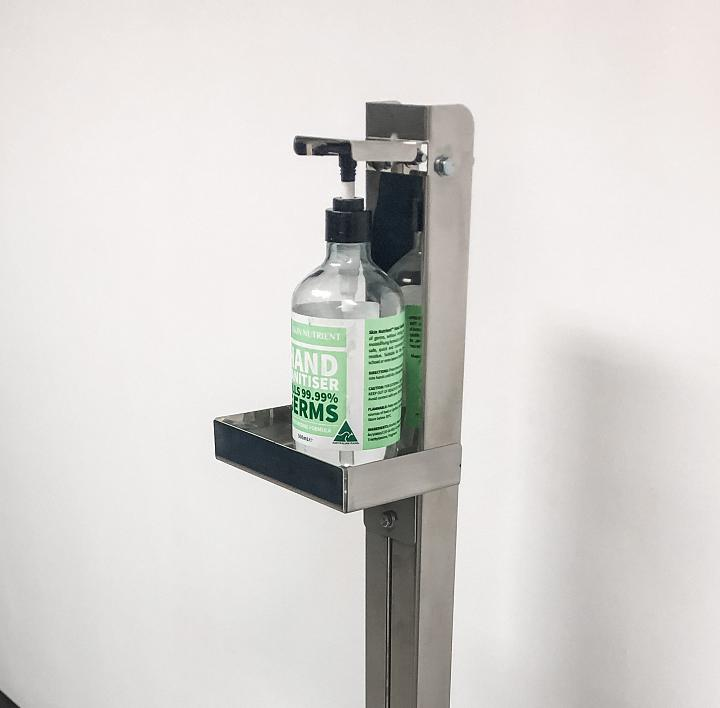 Redlands hygiene innovation: The 'foot pump station' from Shine Precision Industries