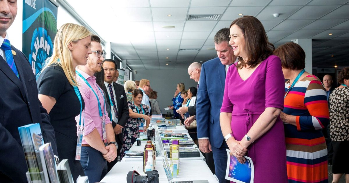 The Premier Annastacia Palaszczuk at the Queensland and Commonwealth Collaboration Showcase on April 12
